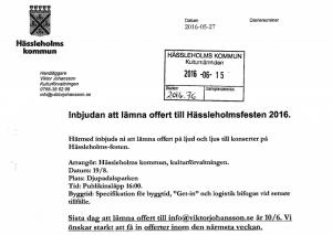 Upphandlingen av ljud och ljus till Hässleholmsfesten var förenklad och företagen hade kort tid på sig att lämna in offert.