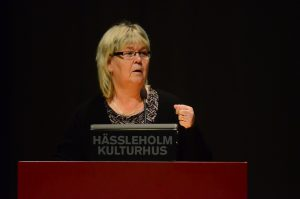Kommunstyrelsens ordförande Lena Wallentheim (S)