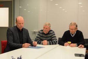 Minerna var inte så positiva hos de rödgröna, från vänster Mats Sturesson (C ), Hans-Göran Hansson (MP) och Lars Olsson (C).