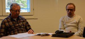 Tekniska nämndens ordförande Lars Olsson C ) och tekniske chefen Mats Svensson försvarade den budgeterade kostnaden på 2,6 miljoner kronor för att flytta musikpaviljongen. Foto: Berit Önell