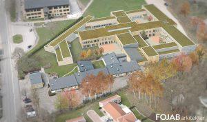 Så här ska utbyggnaden av ungdomshemmet se ut, enligt Specialfastigheters skiss.