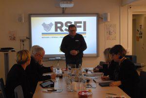 Jörn Engkvist berättade om nya tankar kring integration inom RSFI.