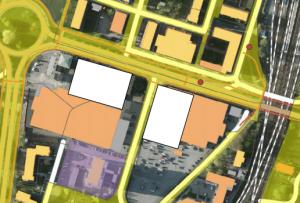 Det mest spektakulära förslaget är att lägga badhuset på Citygross-parkeringen eller att riva halva Kvantum.