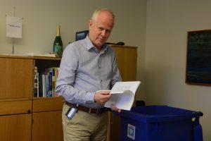 Kommunstyrelsens ordförande Pär Palmgren (M) beklagar att förhandlingarna om en samlingsregering med S, C och MPstrandade. Foto: Berit Önell