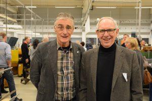 Curt-Erik Karlsson, Hässleholms Industri- och Hantverksförening, till vänster, och Rolf Rantzow, Företagarna i Tyringe, har under ett flertal år verkat för samarbete mellan skola och näringsliv.