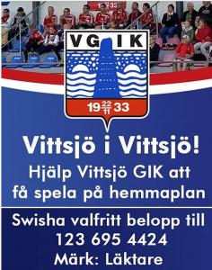 Facebook-gruppen uppmanar alla att ge en gåva till en ny läktare i Vittsjö.