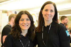 Elida Cimic, till vänster, och Helena Mineur höll i trådarna på mässan What works.
