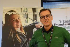Lars Johansson från Tya, Transportfackens yrkes- och arbetsmiljönämnd, informerade om behovet av yrkeschaufförer.