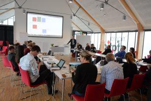 Långsiktiga åtgärder för en hållbar vattenkvalitet i Helgeåsystemet, inklusive Finjasjön, diskuterades vid Stockholm Environment Institutes workshop i Hässleholm. Foto: Berit Önell