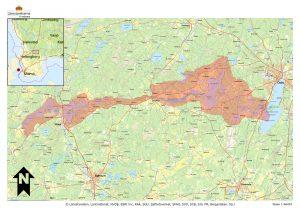 I Vittsjöområdet är förslaget till riksintresse enligt markering på kartan.