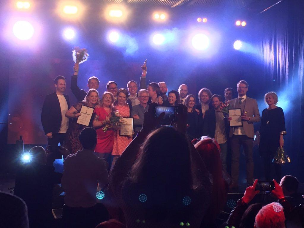 Guldspadarna delades ut till de bästa grävjobben i sju kategorier. Foto: Berit Önell