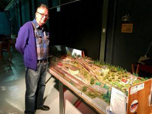 Bengt Nilsson visade sin detaljerade modell i den riktigt minimala N-skalan.