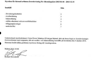 Richard Bernsheim har skrivit under den senaste årsredovisningen för företaget, från 2015.