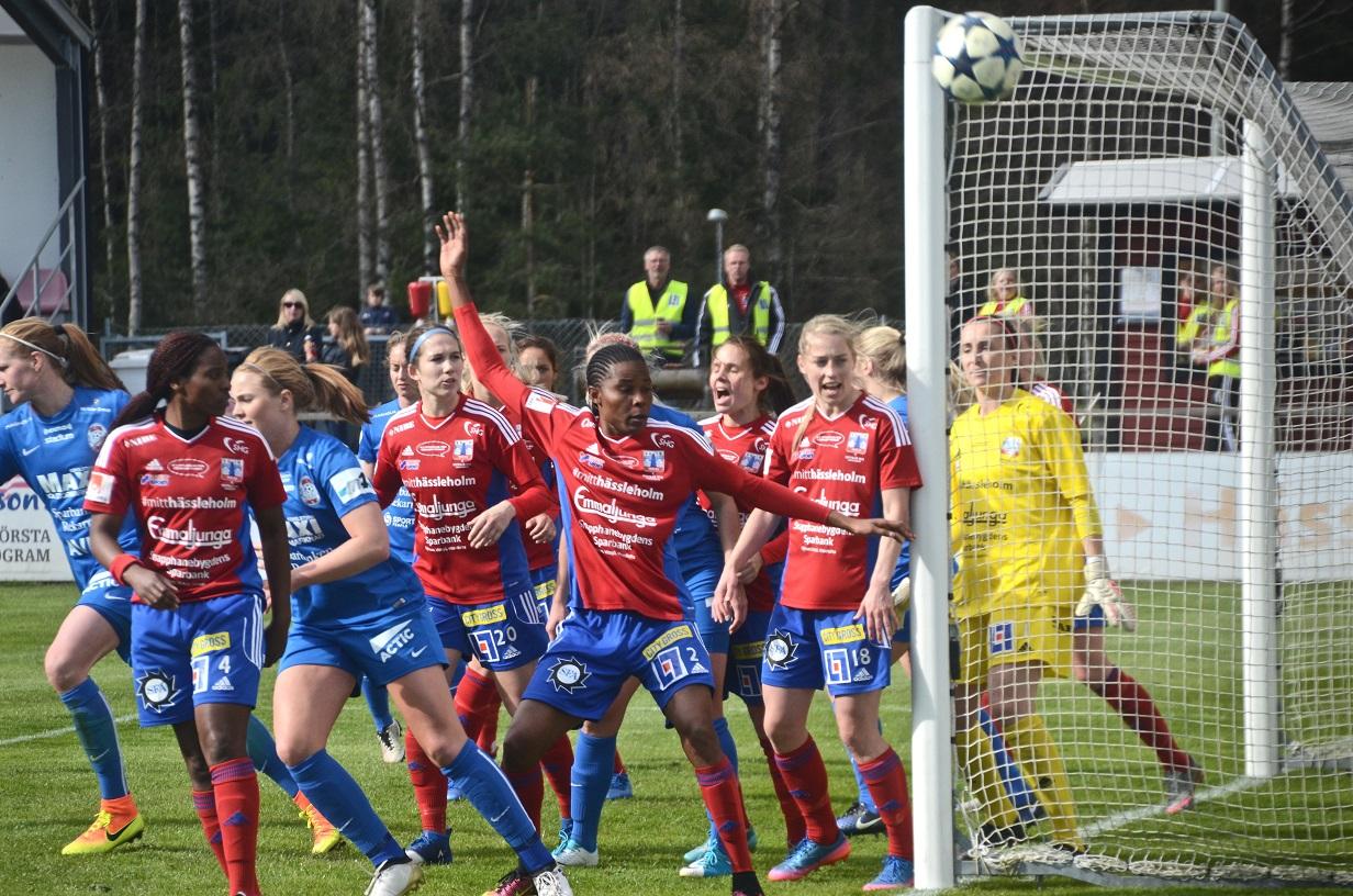 Eskilstuna hade många farliga målchanser och Vittsjö hade tur att det bara blev ett baklängesmål.