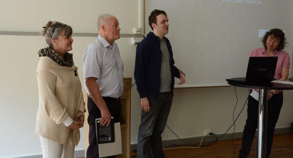 Lotta Persson, Lars Nord och Jonathan Önell berättade om studiecirkeln i medborgarjournalistik.