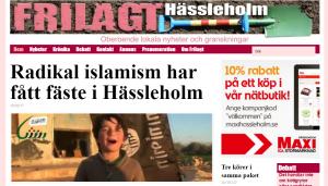Polisen i Hässleholm säger, trots Frilagts avslöjande, att det inte finns våldsbejakande extremism i Hässleholm. Men polisens lägesbild är inte offentlig.