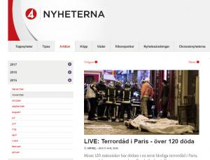 Terrorattentaten i Paris 2015 firades i en lägenhet i centrala Hässleholm, till grannarnas förfäran.