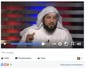 Muhammad al-Arifi, vars predikningar är mycket populära på Facebook, gillas av flera av Ljusets moskés styrelsemedlemmar. Han är bland annat känd för ett oresonligt och våldsbejakande hat mot shiamuslimer och har inresseförbud i Storbritannien på grund av misstankar om att han rekryterat ungdomar till IS.