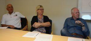 Kommunalråden Robin Gustavsson KD), till vänster, Lena Wallentheim S) och Pär Palmgren M) ser fram emot att det nya handelsområdet ska locka folk till Hässleholm.