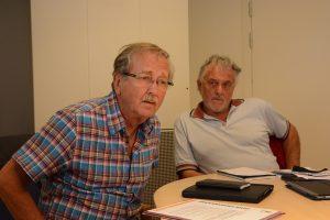 -Vi har marknadsfört det här området under lång tid, förklarar Lars Olsson (C), andre vice ordförande i tekniska nämnden, till vänster, och Arne Dahlström (KD), ordförande.