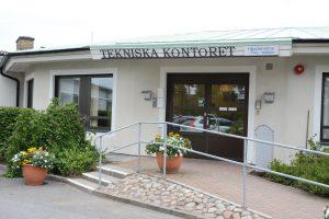 Tekniska förvaltningens och Hässleholms vattens kontorslokaler ska rivas för att ge plats åt Biltema med flera butiker på Hässleholms nya handelsområde. Foto: Berit Önell