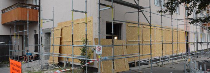 Moskélokalen på Finjagatan byggs om till lägenheter – oro för nya brandattentat
