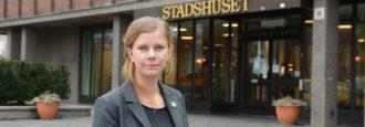 Emma Berginger (MP) på turné för höghastighetstågen